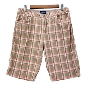 Sonoma High Rise Plaid Shorts Walking Bermuda 10